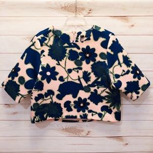 NWT Topshop Floral Print Top Size 8